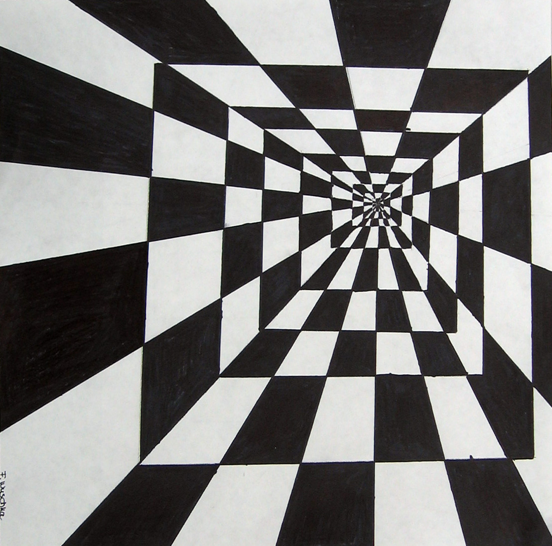 optical illusion drawings illusions drawing tunnel 3d class paper pencil ohs franzie источник uploaded user similar posts