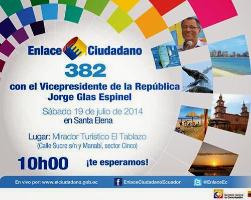 Cadena Sabatina de Correa 382 del 19 julio 2014
