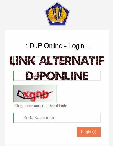 Link Alternatif Lapor Pajak Online (DJP ONLINE)
