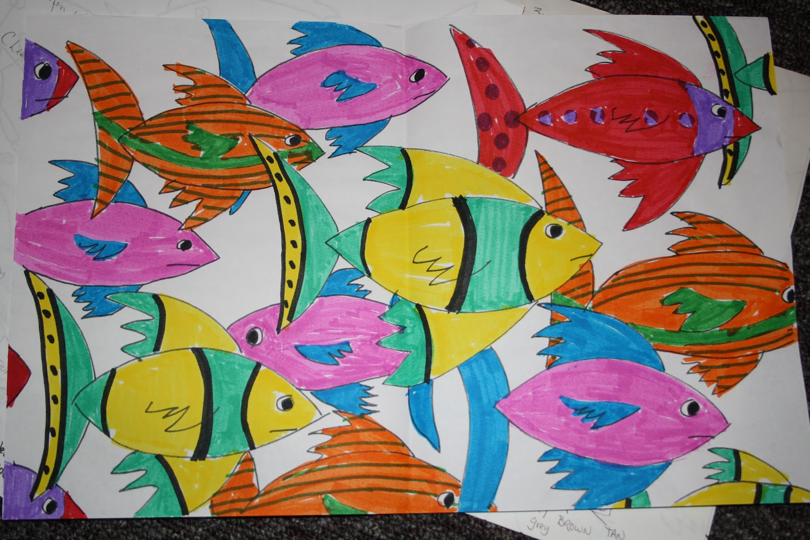 Art Sub Lessons School Of Fish