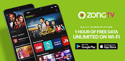 Zong Tv App Packages Free Daily Weekly & Monthly