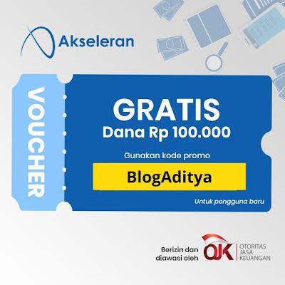 Voucher Akseleran Gratis Dana Rp. 100.000