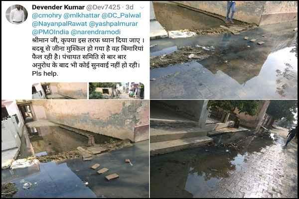 prithla-vidhansabha-alawalpur-village-shiv-mandir-kalyan-marg-water-logging