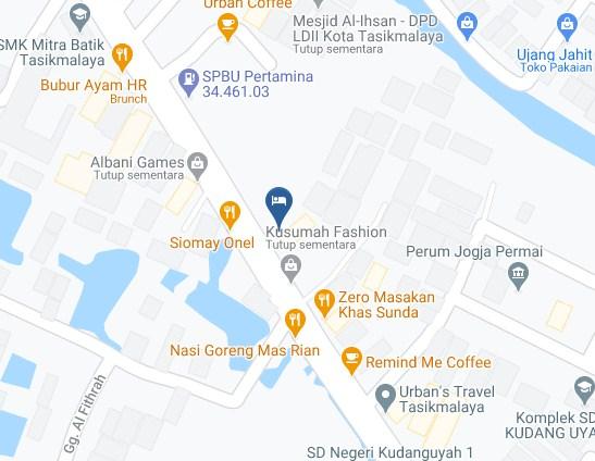 Map Letak Hotel Favehotel Tasikmalaya