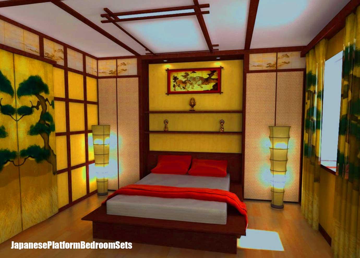 Japanese Bedroom Decor Japanese Platform Bedroom Sets