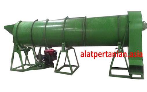 Penegring rotary untuk pengeringan pupuk organik