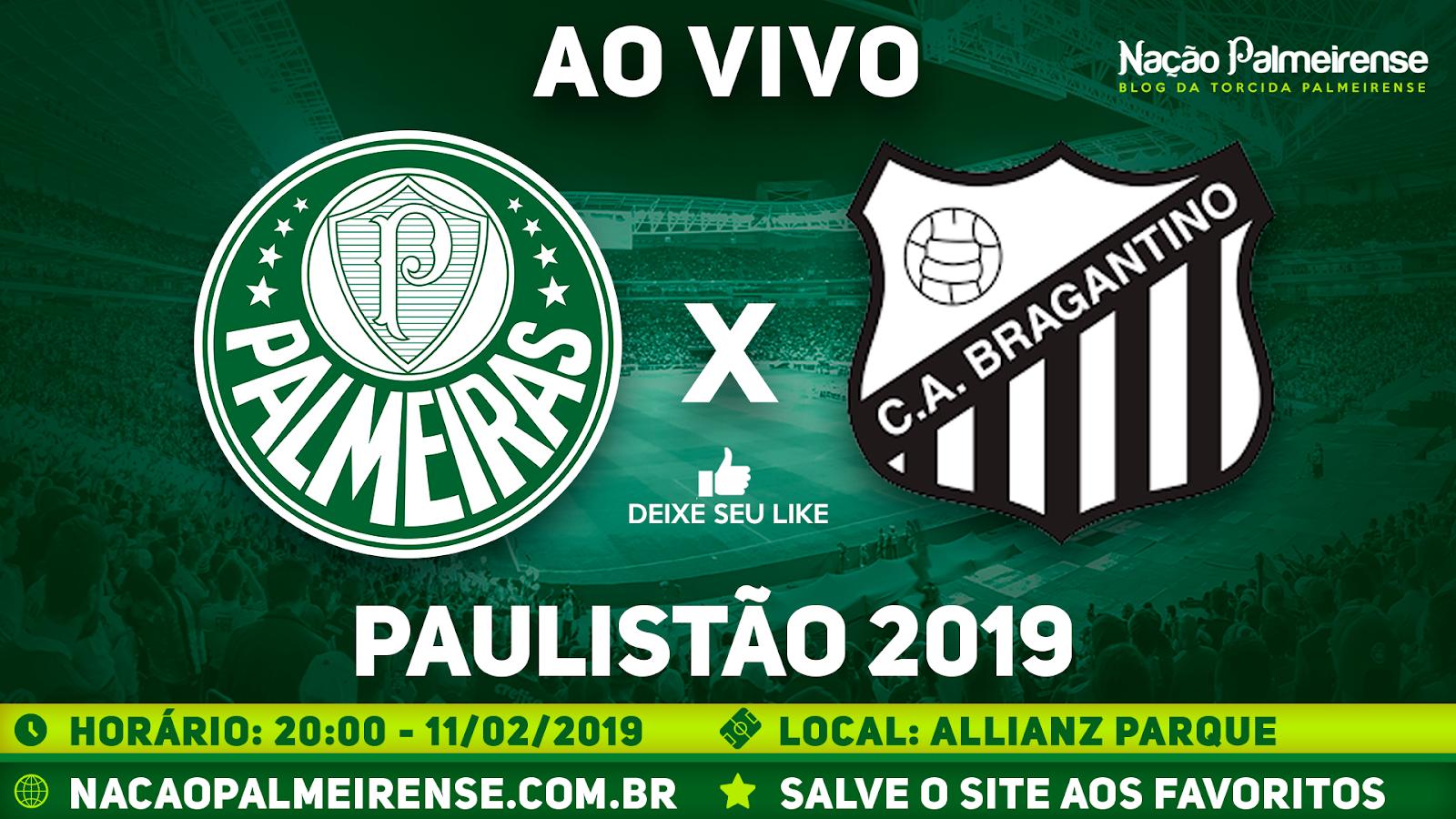 Assistir Palmeiras x Bragantino-SP Ao Vivo