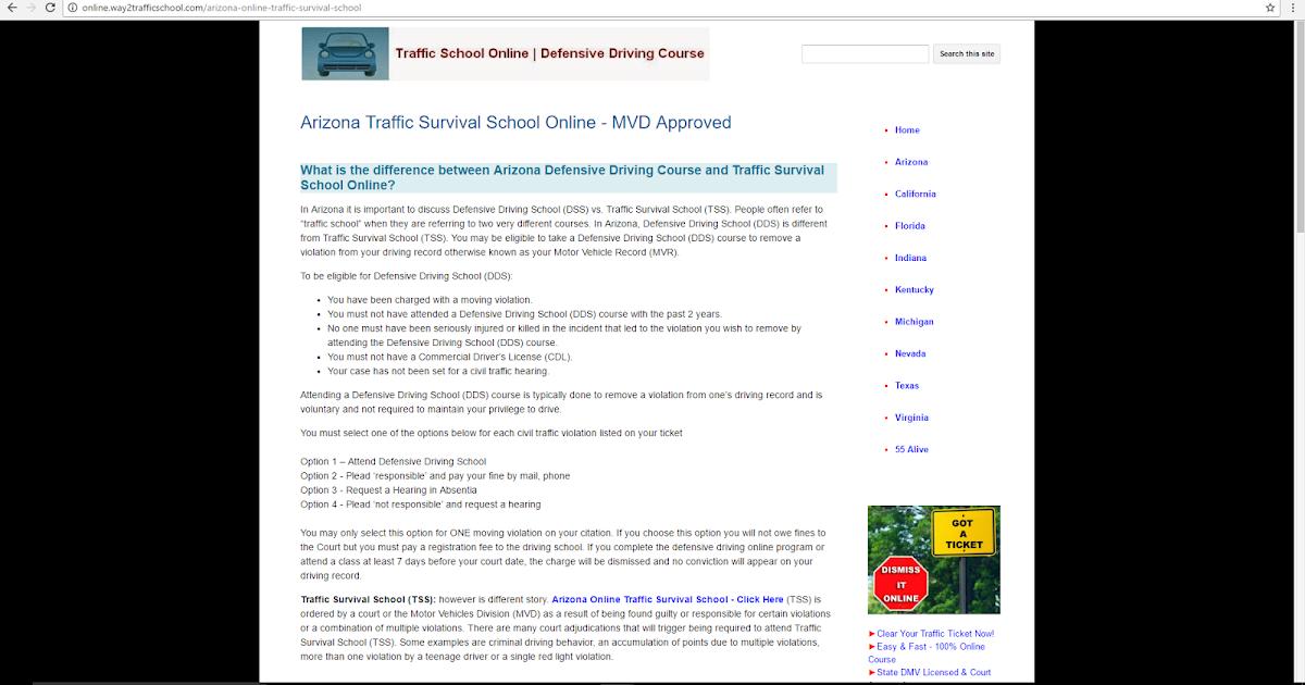 Traffic Survival School Arizona Alliance Tss Call 623 224 3920