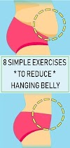 7 simple exercise to reduces hanging belly