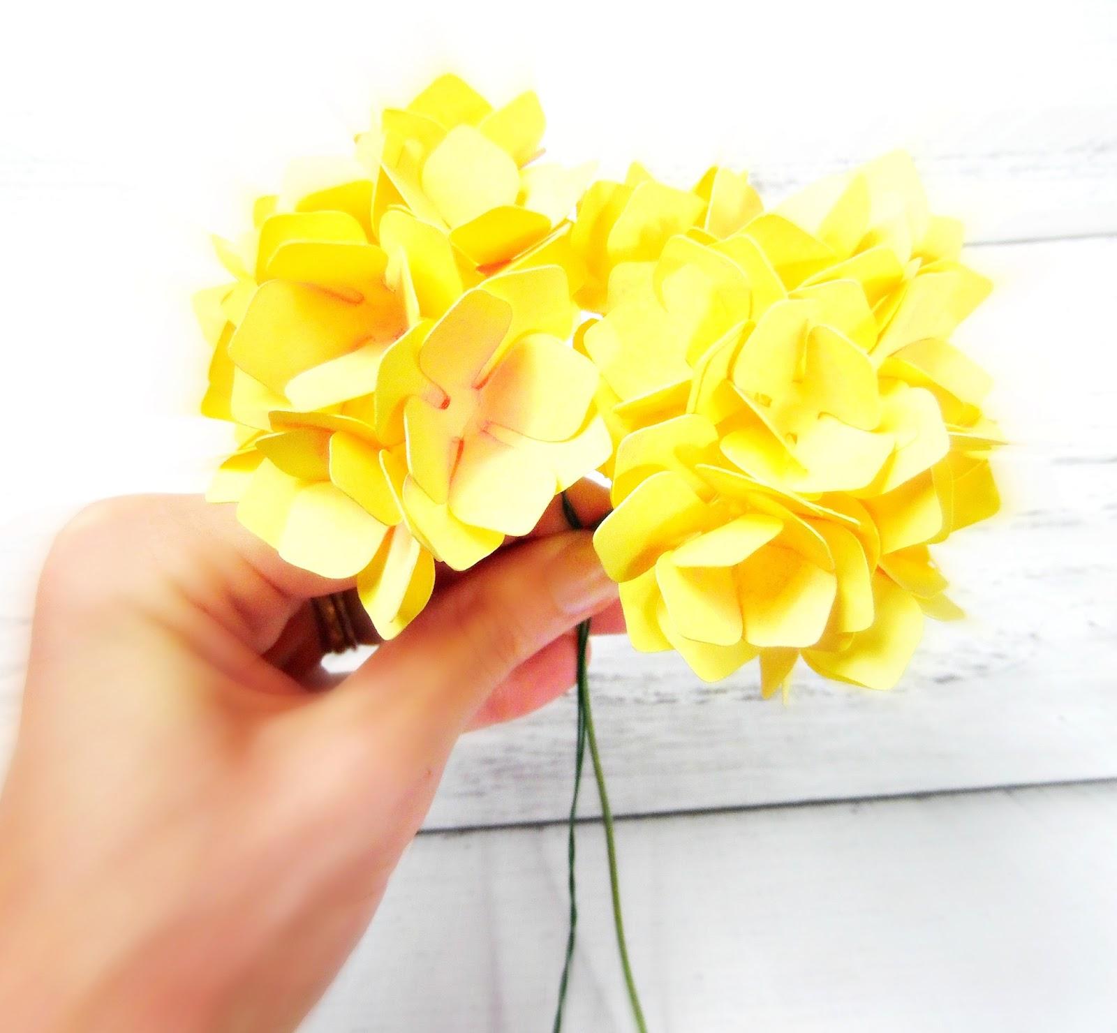 Easy Paper Hydrangeas Catching Colorflies