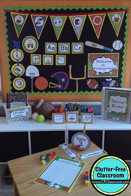 Sports Themed Classroom - Ideas & Printable Classroom ...