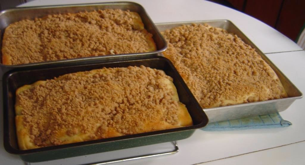 My Yeast-Raised Crumb Cakes