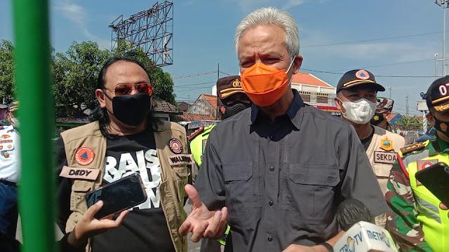 Walikota Dedy Yon Dampingi Ganjar Saat Amati Penutupan Terminal Tegal