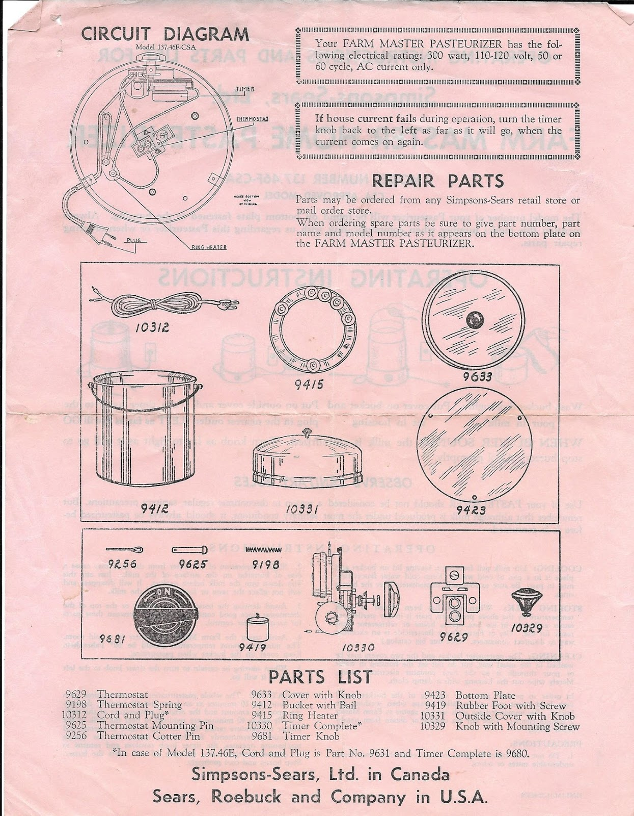 The Boulton Blog February 2017 Filter Queen Vacuum Wiring Diagram Simpson Sears Home Pasteurizer Operating Instruction Sheet Likely Dates From 50s And Picture Of One Below That Was Found On Etsy Is