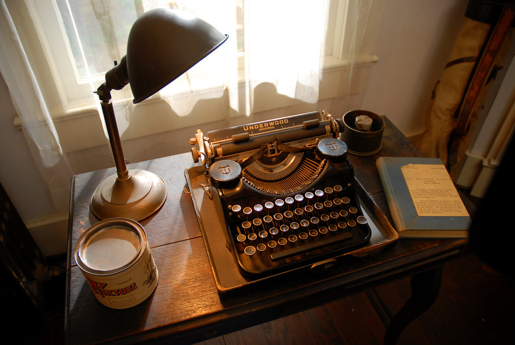 "William Faulkner's ""Underwood"" Universal Portable typewriter"