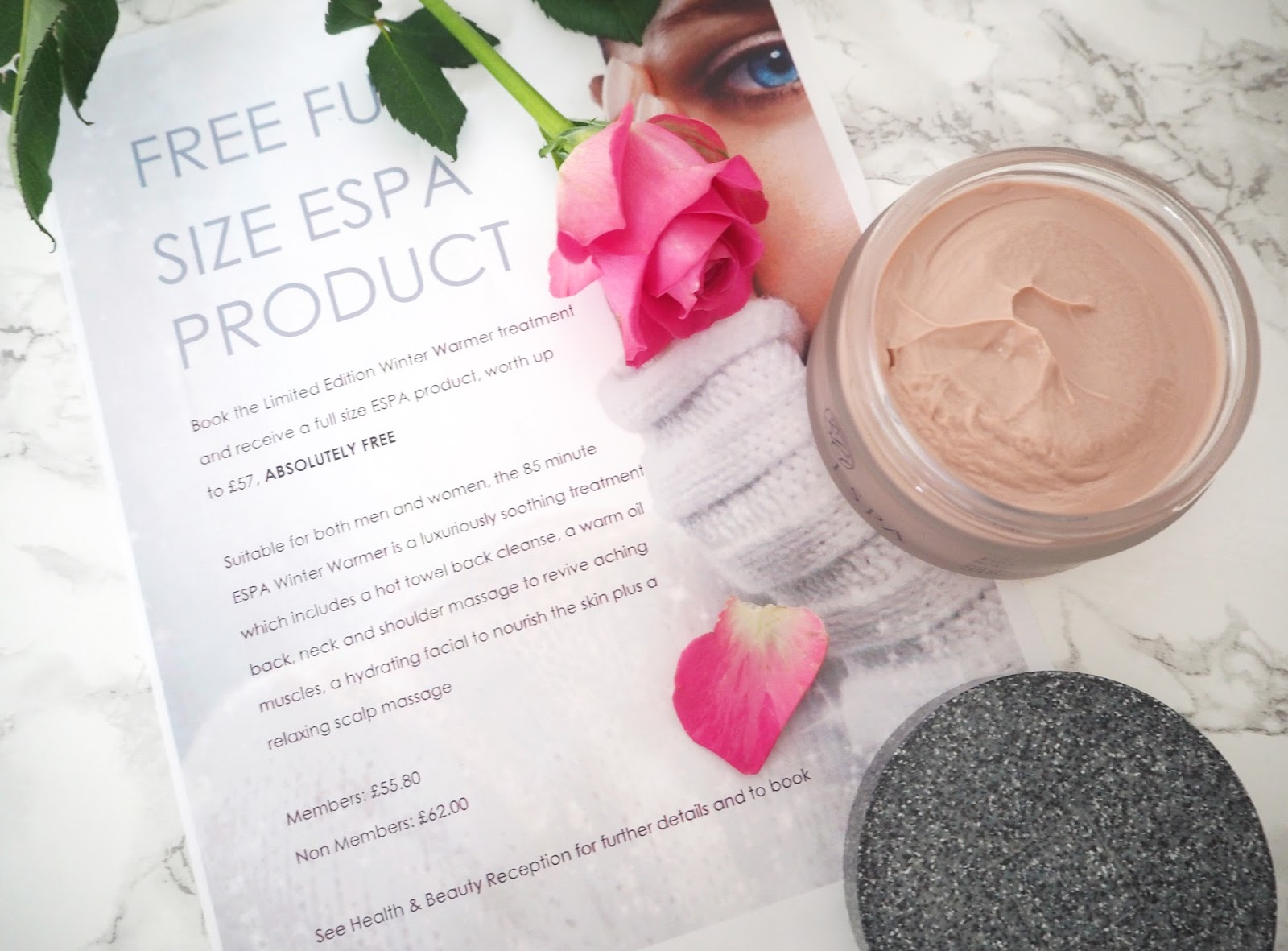 Espa Winter Warmer Spa Treatment, ESPA Skincare, Spa Treatment Review, Beauty Treatment, Espa Massage, Espa Facial, Espa Pink Hair & Scalp Mud, Virgin Active, Beauty Blogger, UK Blogger,