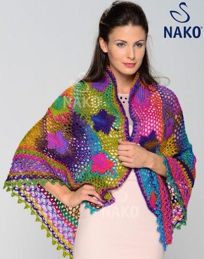 Chal Multicolor con Motivos Patron