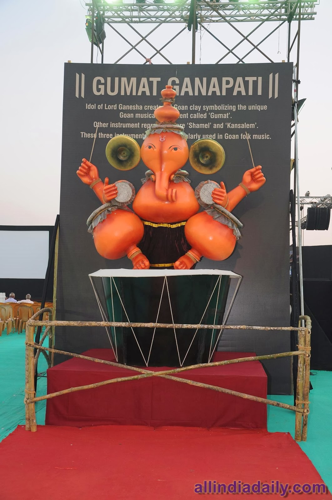 Idol of Lord Ganesha created with the Goan clay symbolizing the unique Go