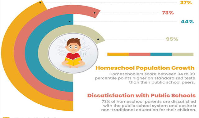Home school Facts and Data in 2020 #infographic