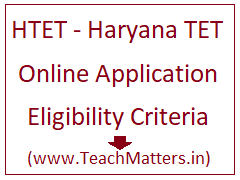 image : HTET 2020 Online Application Form January 2021 @ TeachMatters