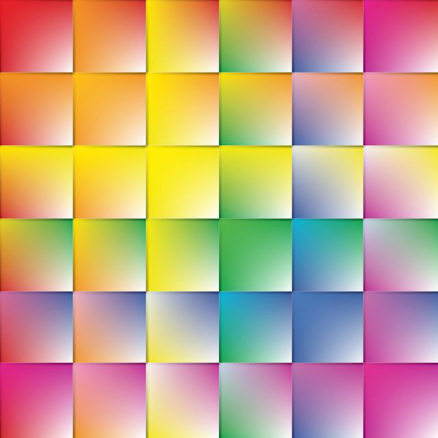 Gay Pride - Gradated Rainbow Square Pattern of Pride