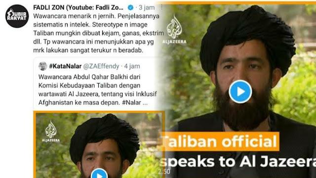 Fadli Zon Puji Wawancara Petinggi Taliban: Intelek, Sangat Terukur dan Beradab