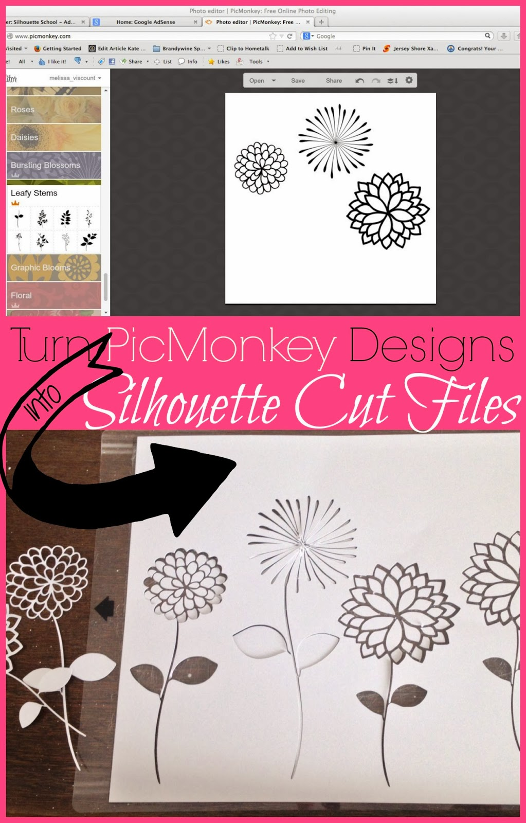 PicMonkey, Pic Monkey, designs, Silhouette cut files