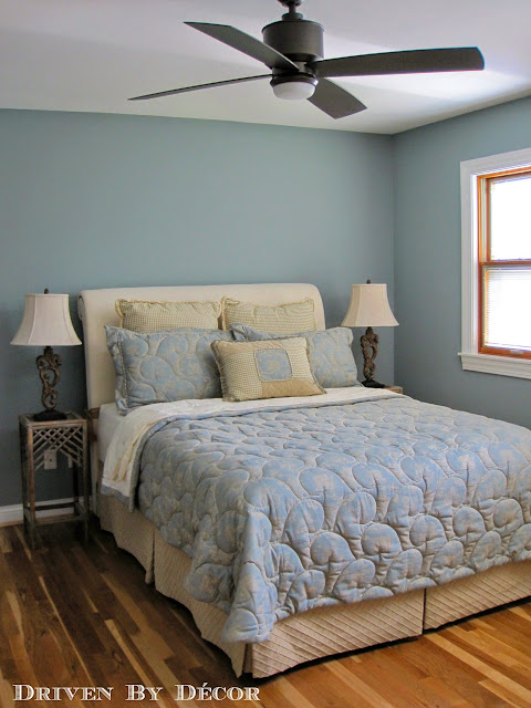 My Favorite Thing About This Room Is The Wall Color Benjamin Moore S Kentucky Haze Ac 16 It A Soft Sophisticated Greenish Blue