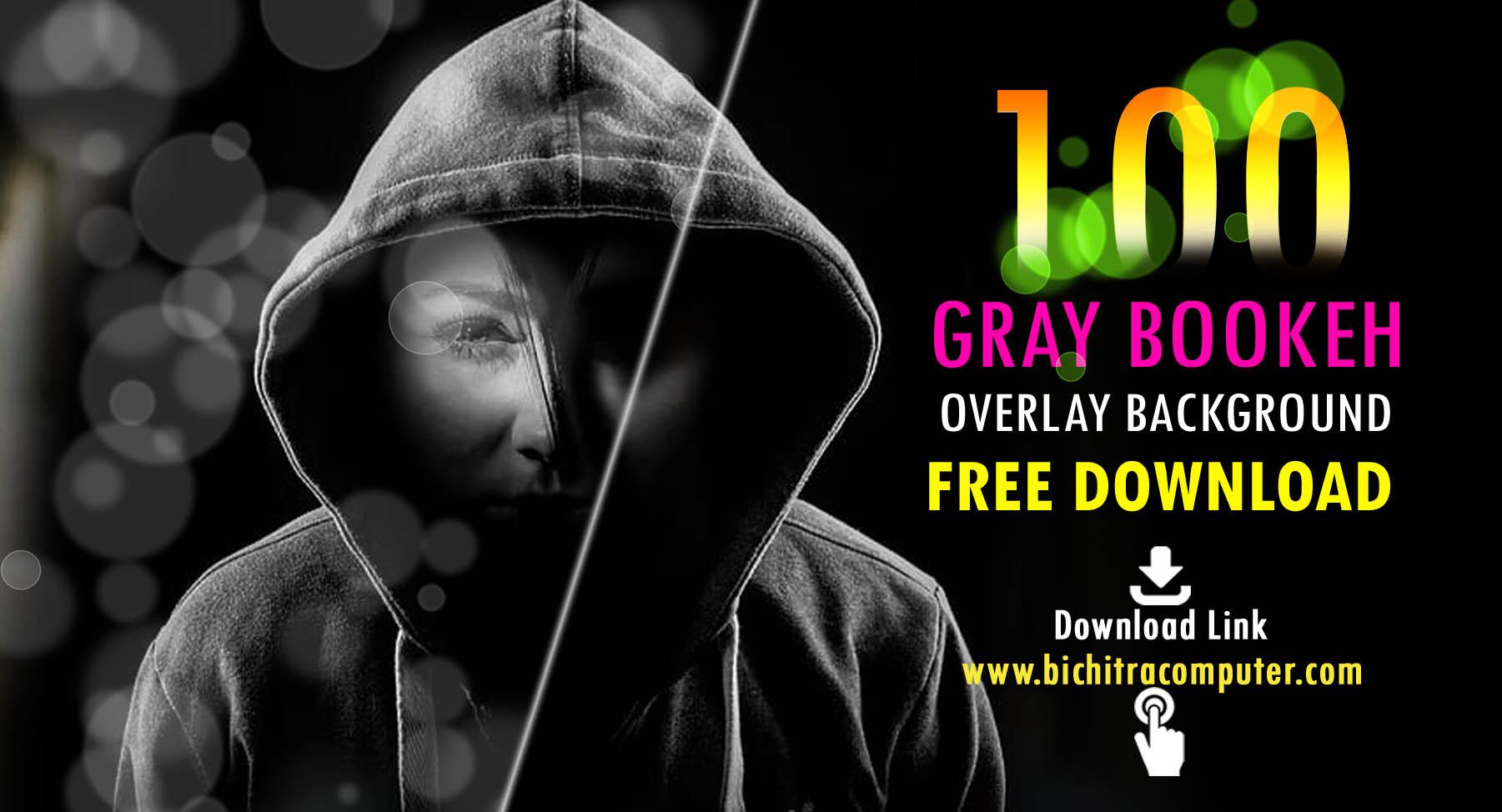 Grey Bokeh,Gray Overlays,