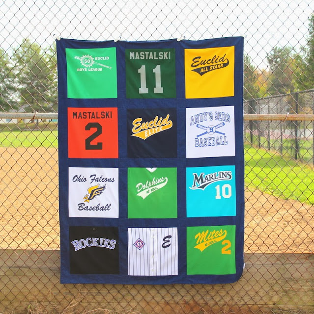 Baseball Memories in a Baseball Blanket