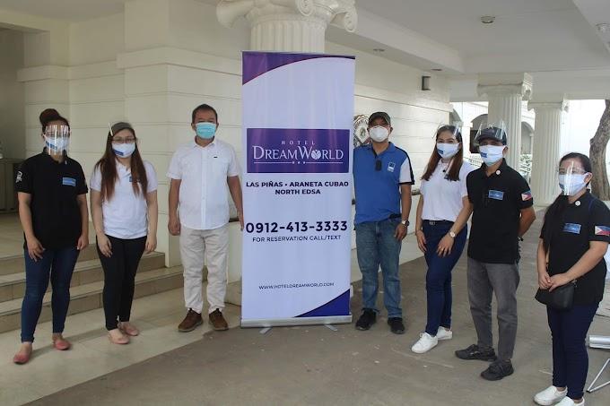 Hotel DreamWorld provides food packs to typhoon victims in Marikina City