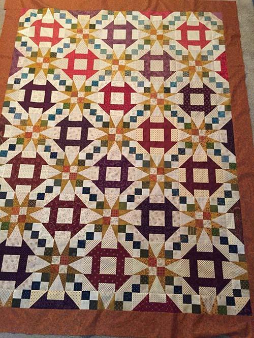 Churn Dash & Stars - Free Quilt Pattern