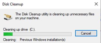 cara mengosongkan ruang hard disk setelah instalasi windows 10