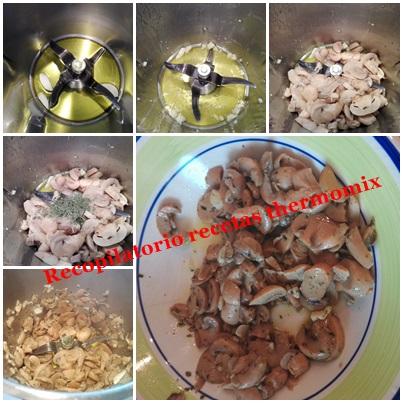 Thermomix revuelto champinones huevo