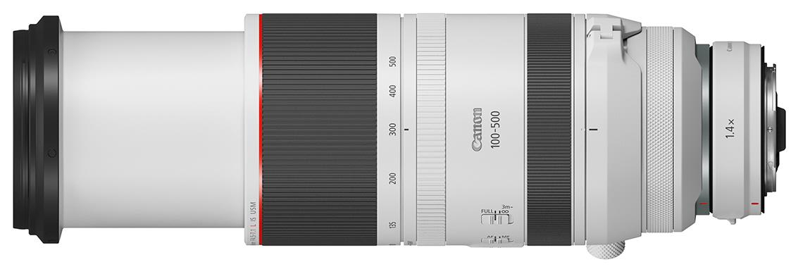 Canon RF 100-500mm f/4.5-7.1L IS USM с телеконвертером 1.4x