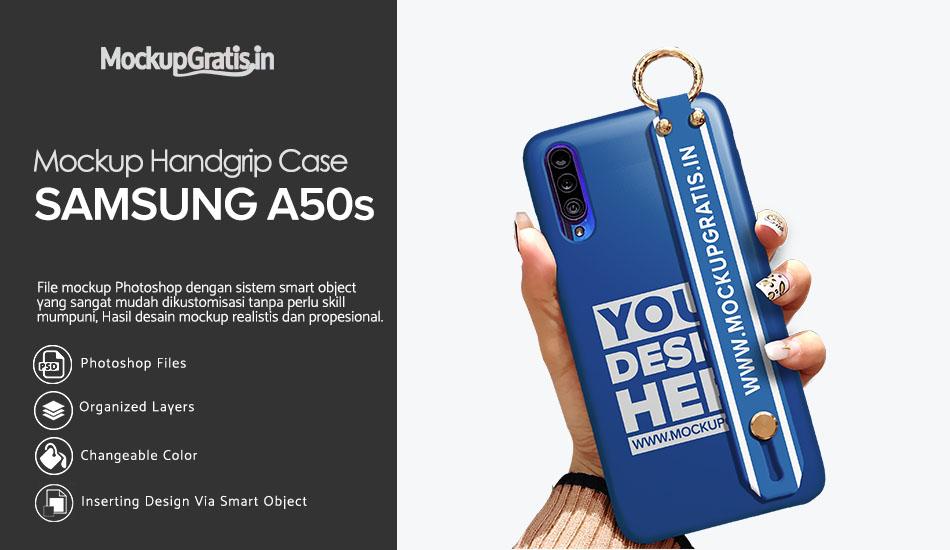 Mockup Handgrip Case SAMSUNG Galaxy A50s