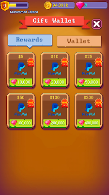 Dollar Paypal dari Game Tiny Crash