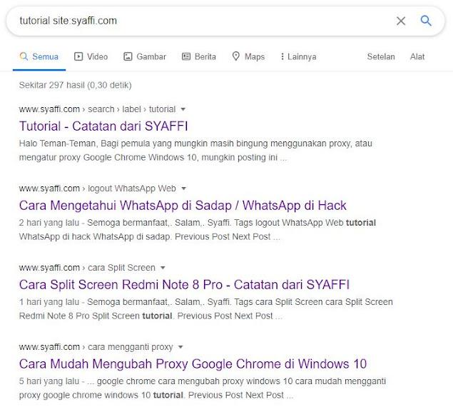 tanda site Google Search Engine Optimization