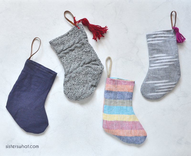 refashioned christmas stockings