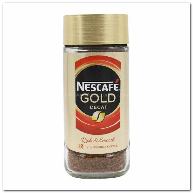 Nescafe DECAF Gold Blend.