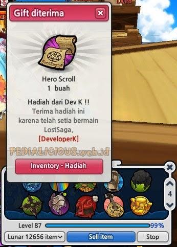 Trial Hero Scroll Mancing Lost Saga