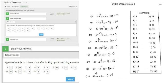 CTCMath worksheet entry and worksheet
