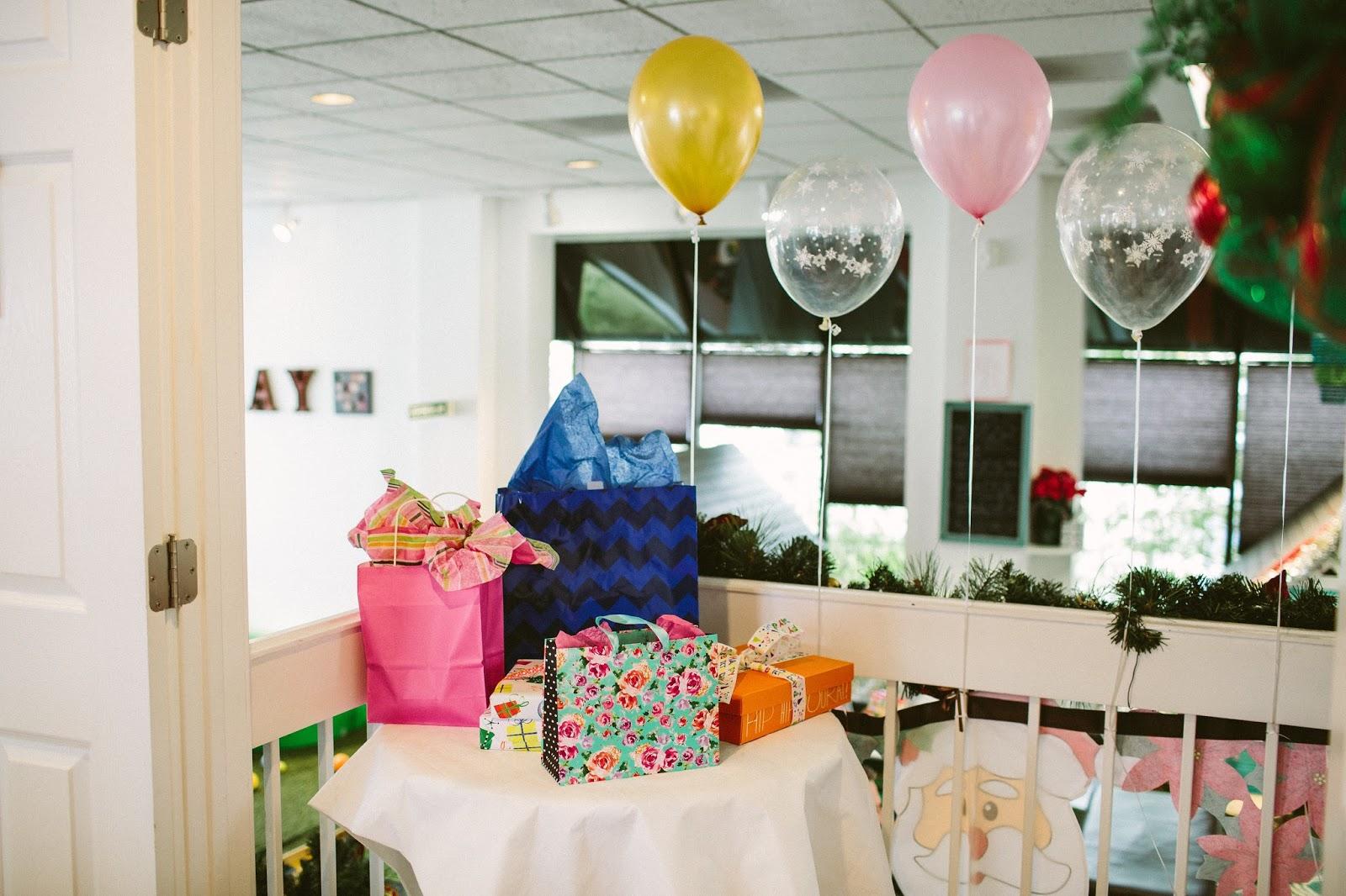 Birthday Presents, Present Table, Storybrook Cafe