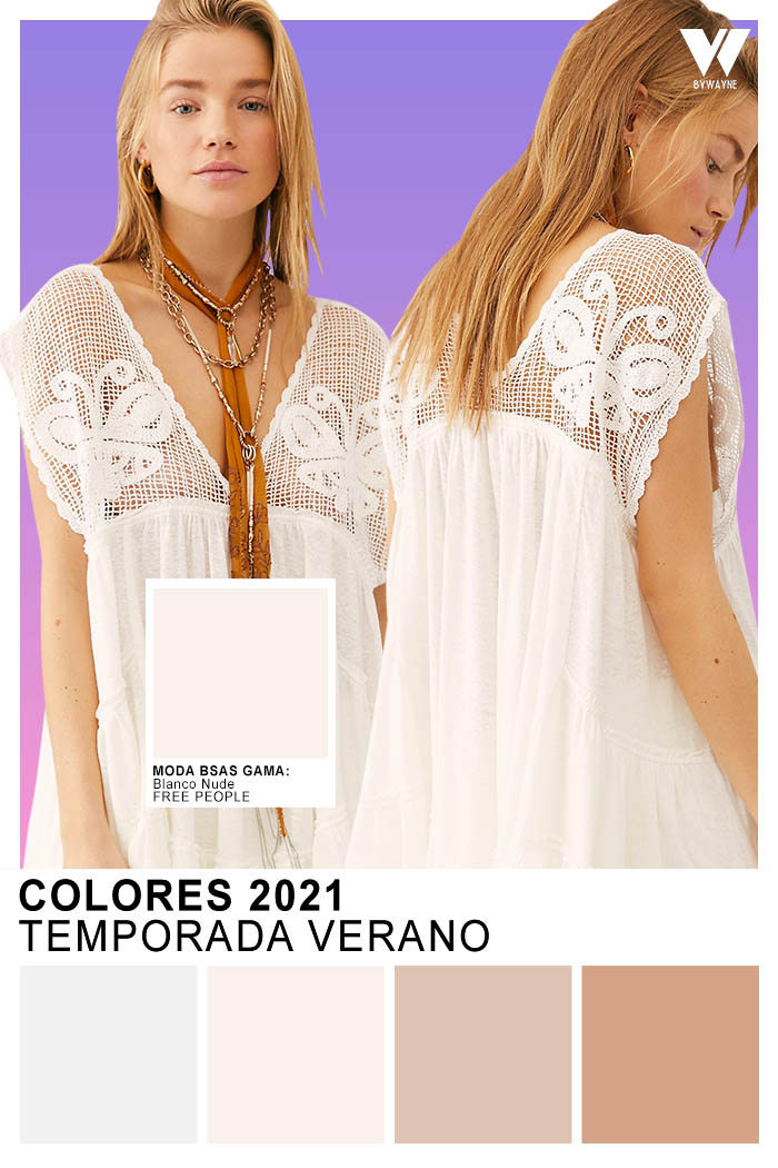 Colores de moda 2021 primavera verano Blanco Nude