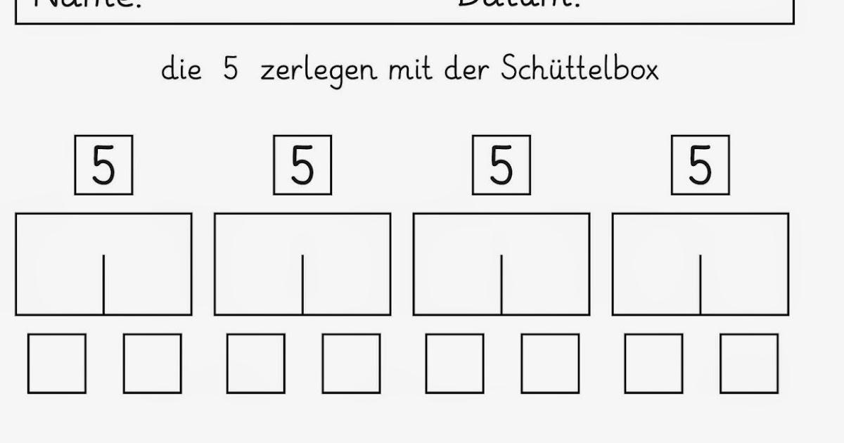 Lernstübchen: Zahlen zerlegen mit der Schüttelbox