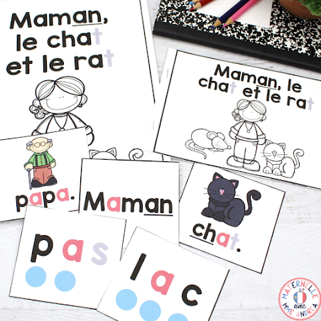 Looking for a simple way to help your French primary students practice blending and learn their vowel sounds? These print + digital vowel sound blending books will help your students learn to read in a BIG way! Check out this blog post for more info on how exactly they work, plus tips for creating a solid practice routine