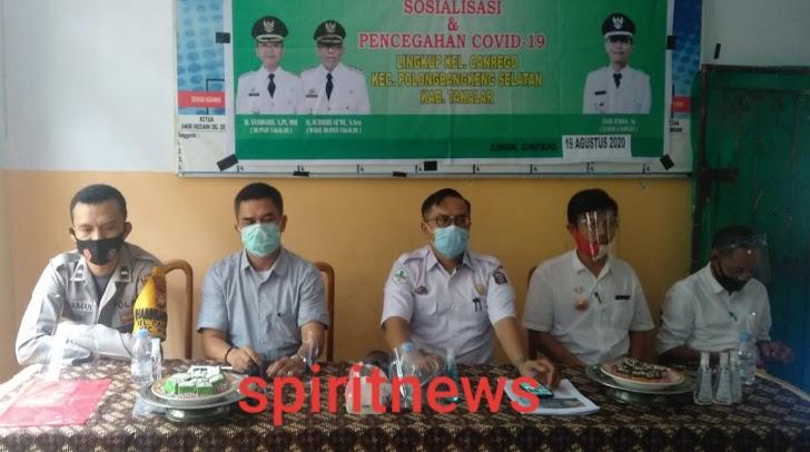 Binmas Kel Canrego, Hadiri Giat Sosialisasi Pencegahan Covid 19