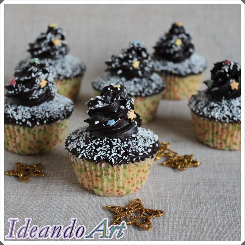 Cupcakes coco y chocolate