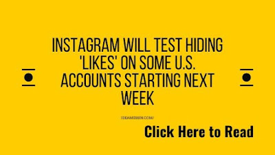Instagram Will Test Hiding 'Likes' On Some U.S. Accounts Starting Next Week