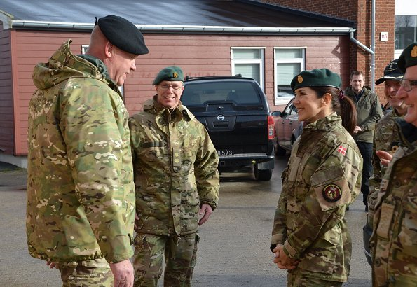 Danish Crown Princess Mary took a training course of the Danish Home Guard